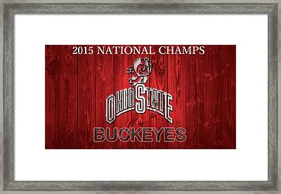 Ohio State Buckeyes National Champs Barn Door Framed Print by Dan Sproul