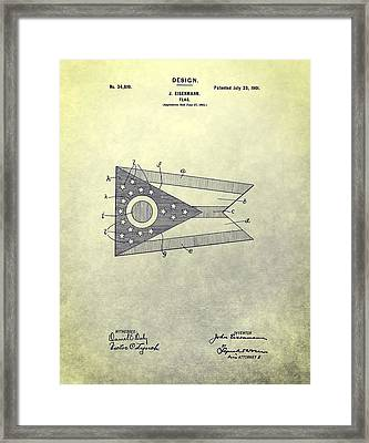 Ohio State Flag Design Framed Print by Dan Sproul