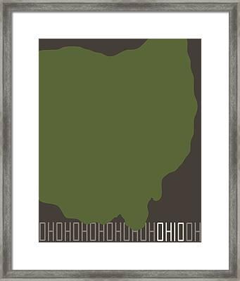 Ohio State Modern Framed Print by Flo Karp