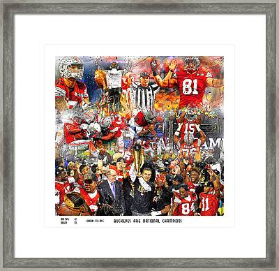 Ohio State National Champions 2015 Framed Print by John Farr