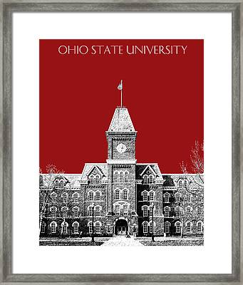 Ohio State University - Dark Red Framed Print by DB Artist