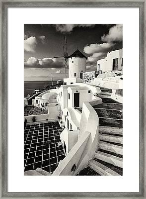 Oia - Santorini - Greece Framed Print by Manolis Tsantakis
