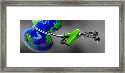 Oil Choking Earth Framed Print by Panoramic Images