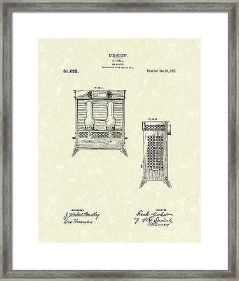Oil Heater 1917 Patent Art Framed Print by Prior Art Design