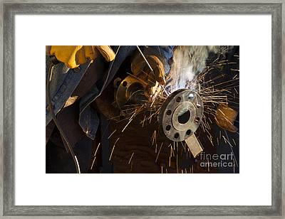 Oil Industry Pipefitter Welder Framed Print by Keith Kapple