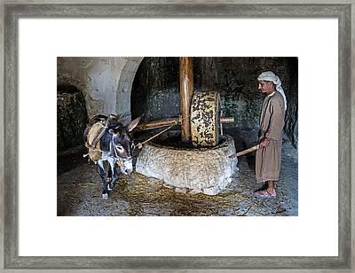 Oil Press Framed Print by Kobby Dagan