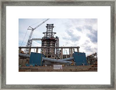 Oil Refinery Expansion Framed Print by Jim West