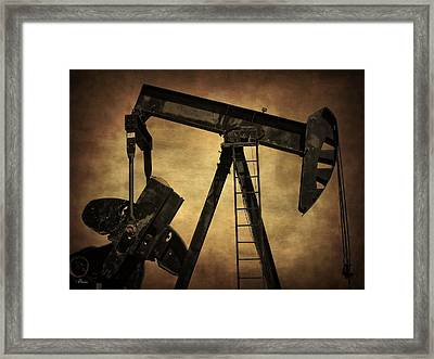 Pumpjack Framed Print by Christine Hauber