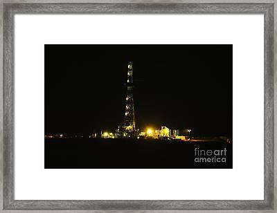 Oil Rig Framed Print by Jeff Swan