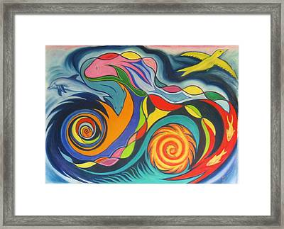 Oil Spill In The Gulf Framed Print by James Welch