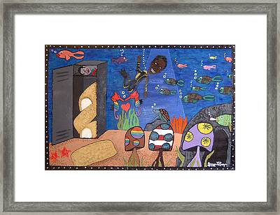 Oil Spill Of America Framed Print by Yvonne  Kroupa