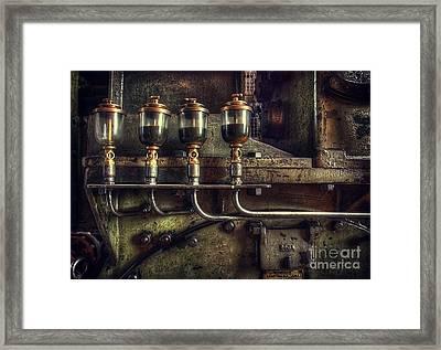 Oil Valves Framed Print by Carlos Caetano