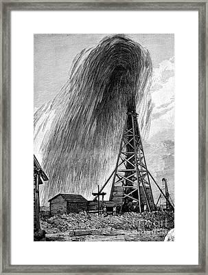 Oil Well, 19th Century Framed Print by Spl