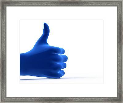 Okay Gesture Framed Print by Michal Bednarek
