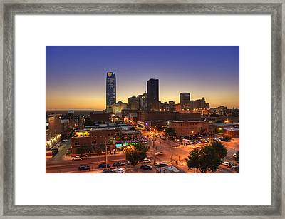 Oklahoma City Nights Framed Print by Ricky Barnard