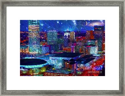 Oklahoma City Starry Night Framed Print by Cooper Ross