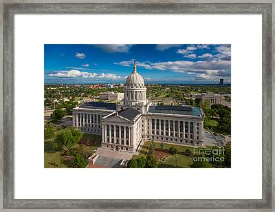 Oklahoma City State Capitol Building C Framed Print by Cooper Ross