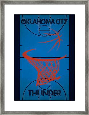 Oklahoma City Thunder Court Framed Print by Joe Hamilton