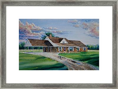 Oklahoma Country Home Framed Print by Hanne Lore Koehler