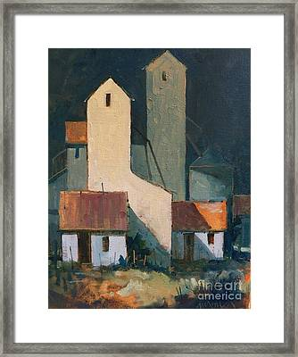 Oklahoma Feed Mill Framed Print by Micheal Jones