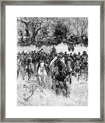 Oklahoma Land Rush, 1891 Framed Print by Granger