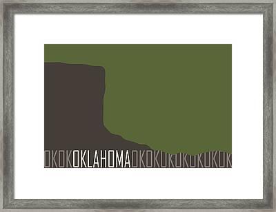 Oklahoma State Modern Framed Print by Flo Karp