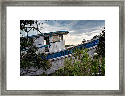 Ol Tide Runner Framed Print by Walt  Baker