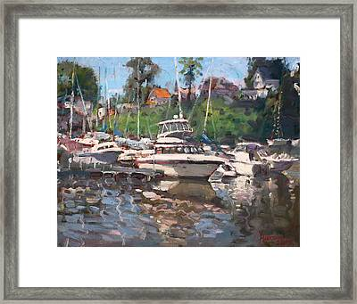 Olcott Yacht Club Framed Print by Ylli Haruni