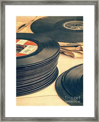 Old 45s Framed Print by Edward Fielding