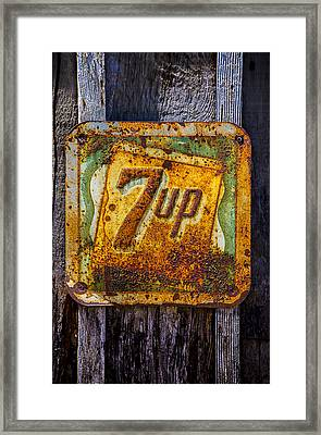 Old 7 Up Sign Framed Print by Garry Gay