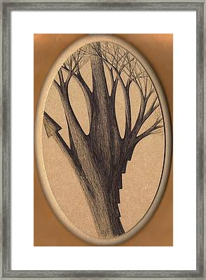 Old Age Lies In Wood Framed Print by Giuseppe Epifani
