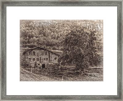 Old And Abandoned - Sepia Framed Print by Hanny Heim