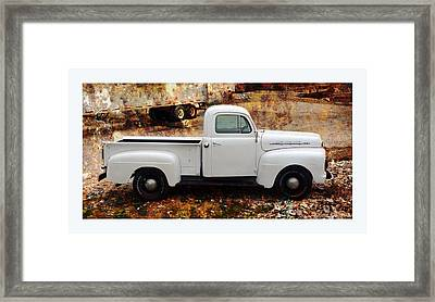 An Old And New Ford Truck Framed Print by Carla Parris