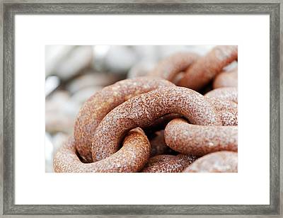 Old And Rusty Chain Framed Print by Photostock-israel