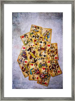 Old Antique Playing Cards Framed Print by Garry Gay