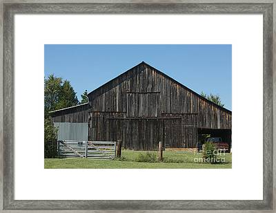 Old Barn And Truck Framed Print by Kay Pickens