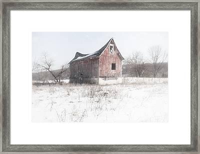 Old Barn - Brokeback Shack Framed Print by Gary Heller