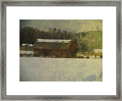 Old Barn Grunge  Framed Print by Robert  Nacke