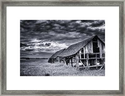 Old Barn Framed Print by Ian MacDonald