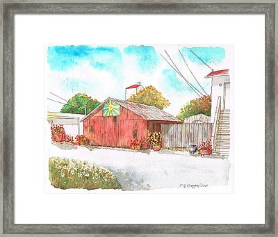 Old Barn In Lompoc - California Framed Print by Carlos G Groppa