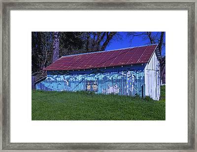 Old Barn Mural Framed Print by Garry Gay