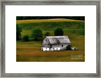 Old Barn Near Buckhannon Framed Print by Dan Friend
