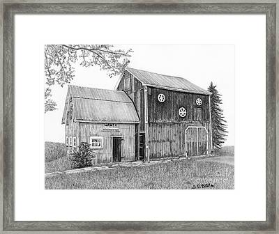 Old Barn Framed Print by Sarah Batalka