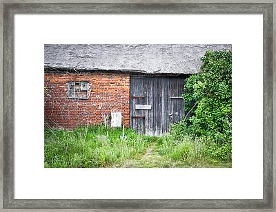 Old Barn Framed Print by Tom Gowanlock