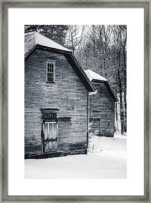 Old Barns Windsor Vermont Framed Print by Edward Fielding