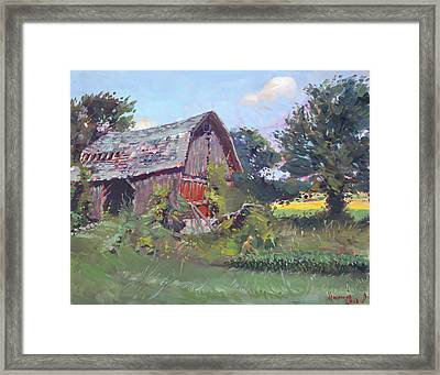 Old Barns  Framed Print by Ylli Haruni