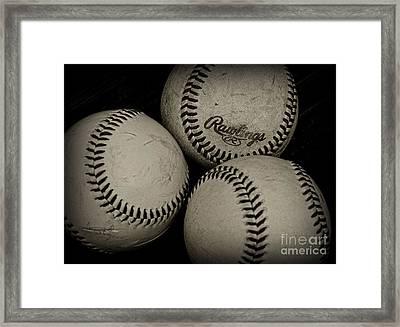 Old Baseballs Framed Print by Paul Ward