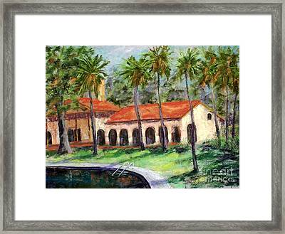 Old Bathouae Framed Print by Bruce Schrader