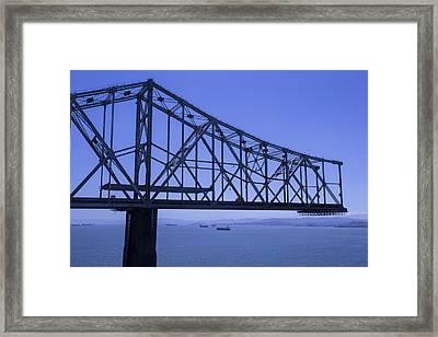 Old Bay Bridge Framed Print by Garry Gay