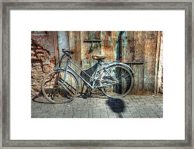 Old Bike Framed Print by Sophie Vigneault